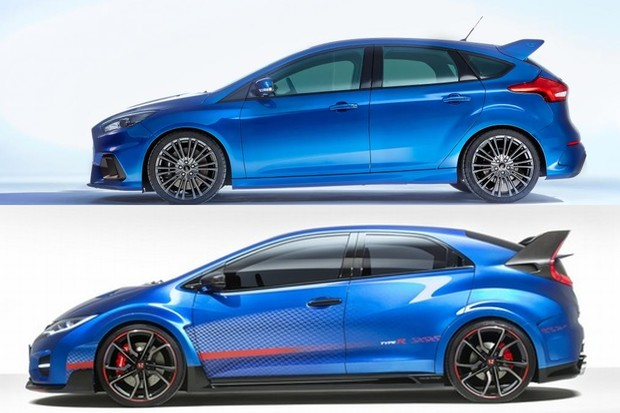 ford focus rs vs honda civic type r super automobili automobili vidiauto vidiauto. Black Bedroom Furniture Sets. Home Design Ideas