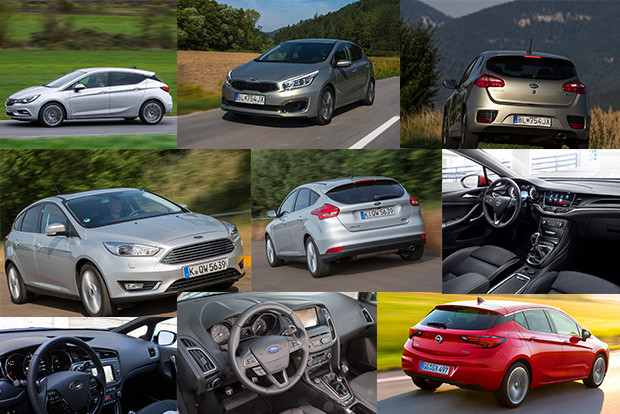 Ford Focus vs. Kia cee'd vs. Opel Astra